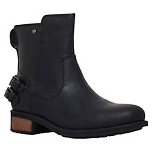 Buy UGG Orion Elevated Tongue Ankle Boots, Black Leather Online at johnlewis.com
