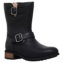 Buy UGG Chaney Buckle Detail Ankle Boots, Black Leather Online at johnlewis.com