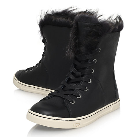 ugg high tops fur trainers