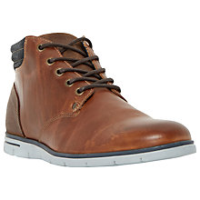 Buy Dune Cane Wedge Sole Leather Lace Up Boots, Tan Online at johnlewis.com