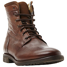 Buy Dune Connor Lace-Up Leather Boots, Tan Online at johnlewis.com