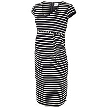 Buy Mamalicious Striped Maternity Jersey Dress, Navy/White Online at johnlewis.com