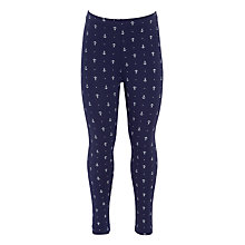 Buy John Lewis Girls' Anchor Leggings, Navy Online at johnlewis.com