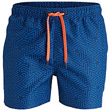 Buy Bjorn Borg Geoline Mid Length Swim Shorts, Blue Online at johnlewis.com