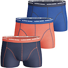 Buy Bjorn Borg Basic Contrast Trunks, Pack of 3, Multi Online at johnlewis.com