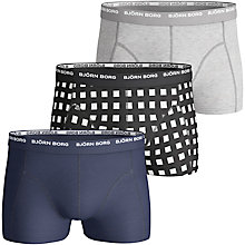 Buy Bjorn Borg Basic Check Trunks, Pack of 3, Multi Online at johnlewis.com