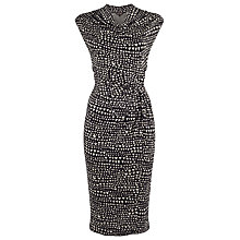 Buy Phase Eight Cici Cowl Neck Printed Dress, Black/Camel Online at johnlewis.com