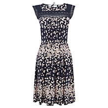 Buy Oasis Lace Floral Stripe Dress, Navy Online at johnlewis.com