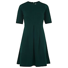 Buy Whistles Jersey Flippy Textured Dress, Green Online at johnlewis.com