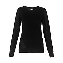 Buy Whistles Sparkle Double Front Knit, Black Online at johnlewis.com