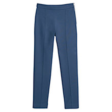 Buy Mango Straight Cotton Trousers, Dark Blue Online at johnlewis.com