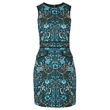 Buy Warehouse Paisley Printed Dress, Green Online at johnlewis.com