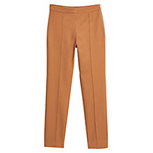 Buy Mango Straight Trousers, Medium Brown Online at johnlewis.com