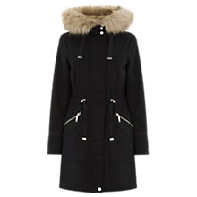 Buy Warehouse Faux Fur Trim Parka Coat Online at johnlewis.com