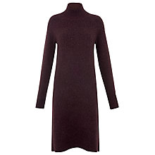 Buy Whistles Shaped Hem Funnel Dress, Burgundy Online at johnlewis.com