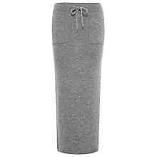 Buy Whistles All Needle Knit Skirt, Grey Marl Online at johnlewis.com