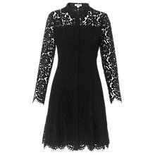 Buy Whistles Lace Shirt Dress, Black Online at johnlewis.com