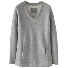 Buy Wrap London Coraline Sweatshirt, Blue/Grey Online at johnlewis.com