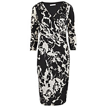 Buy Gina Bacconi Jersey Wrap Dress, Black/White Online at johnlewis.com