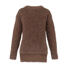 Buy Whistles Alpaca Blend Chunky Knit, Brown Online at johnlewis.com