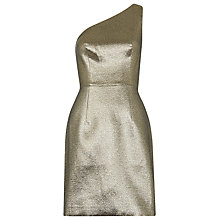 Buy Whistles Estelle One Shoulder Dress, Gold Online at johnlewis.com