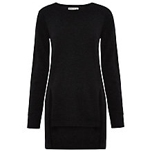 Buy Whistles Split Hem Cashmere Blend Jumper, Dark Grey Online at johnlewis.com