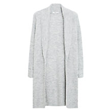 Buy Mango Longline Ribbed Cardigan, Light Pastel Grey Online at johnlewis.com