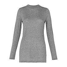 Buy Whistles Longline Side Slit Top, Grey Online at johnlewis.com