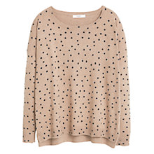 Buy Mango Polka Dot Cotton-Blend Jumper Online at johnlewis.com