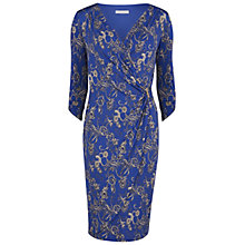 Buy Gina Bacconi Jersey Floral Wrap Dress, Royal Blue Online at johnlewis.com