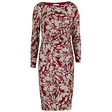 Buy Gina Bacconi Printed Cowl Neck Jersey Dress, Wine/Beige Online at johnlewis.com