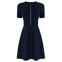 Buy Warehouse Zip Through Pocket Dress, Navy Online at johnlewis.com