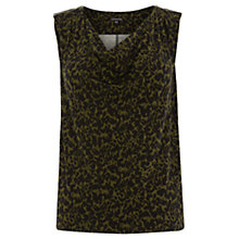 Buy Warehouse Animal Print Zip Detail Top, Multi Online at johnlewis.com