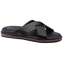Buy Ted Baker Leezon Leather Crossover Sandals, Black Online at johnlewis.com
