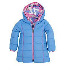 Buy Hatley Girls' Reversible Horses Print Jacket, Blue/Pink Online at johnlewis.com