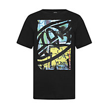 Buy Animal Boys' Graffiti Print Short Sleeve T-Shirt, Black Online at johnlewis.com