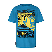 Buy Animal Boys' Hunter Print T-Shirt, Blue Online at johnlewis.com