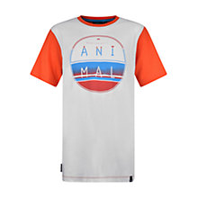 Buy Animal Boys' Rocker Logo Print T-Shirt, Orange/White Online at johnlewis.com