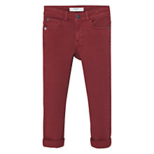 Buy Mango Kids Boys' Slim Trousers, Red Online at johnlewis.com
