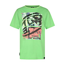 Buy Animal Boys' Graffiti Print T-Shirt, Green Online at johnlewis.com
