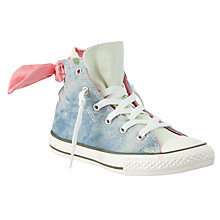 Buy Converse Children's Chuck Taylor All Star Classic High Top Bow Back Shoes, Blue/Pink Online at johnlewis.com