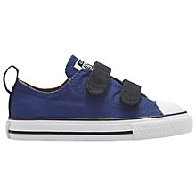 Buy Converse Children's Chuck Taylor All Star 2V Rip-Tape Shoes, Blue Online at johnlewis.com