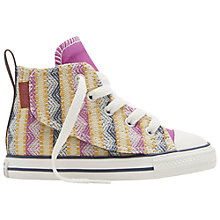Buy Converse Children's Chuck Taylor All Star Simple Step Shoes, Pink/Multi Online at johnlewis.com