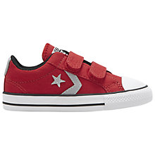 Buy Converse Children's Start Player 2V Shoes, Red/Grey Online at johnlewis.com