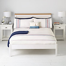 Buy John Lewis Stripe Duvet Cover and Pillowcase Set, Red/Blue Online at johnlewis.com