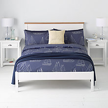 Buy John Lewis Sailing Duvet Cover and Pillowcase Set, Navy Online at johnlewis.com