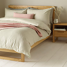 Buy John Lewis Textured Lake Duvet Cover and Pillowcase Set, Grey Online at johnlewis.com