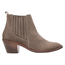 Buy H by Hudson Celeste Cuban Heeled Ankle Boots, Beige Suede Online at johnlewis.com