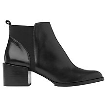 Buy Whistles Cordia Block Heeled Chelsea Ankle Boots, Black Leather Online at johnlewis.com