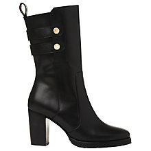Buy Whistles Keiss Block Heeled Calf Boots, Black Leather Online at johnlewis.com